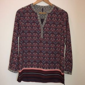Just IN! NYDJ long sleeve Cardinal Blouse NWT